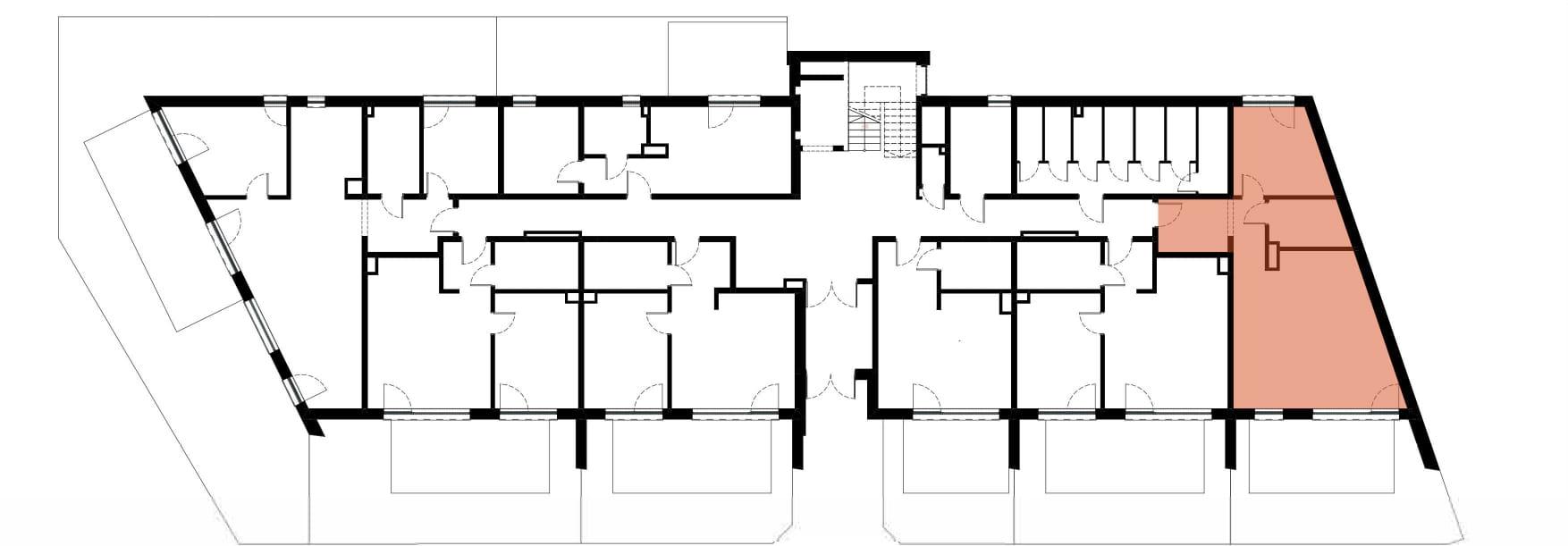 Apartamenty Kamienna / apartamenty inwestycyjne M01 rzut 2