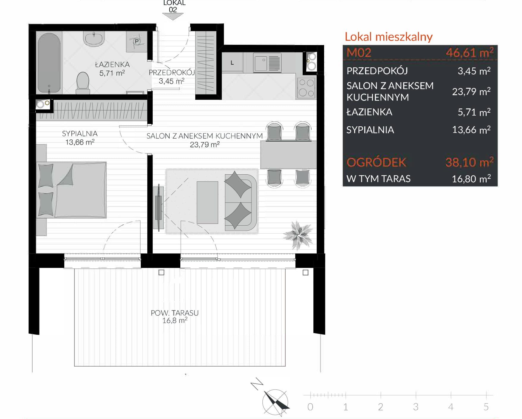 Apartamenty Kamienna / apartamenty inwestycyjne M02 rzut 1
