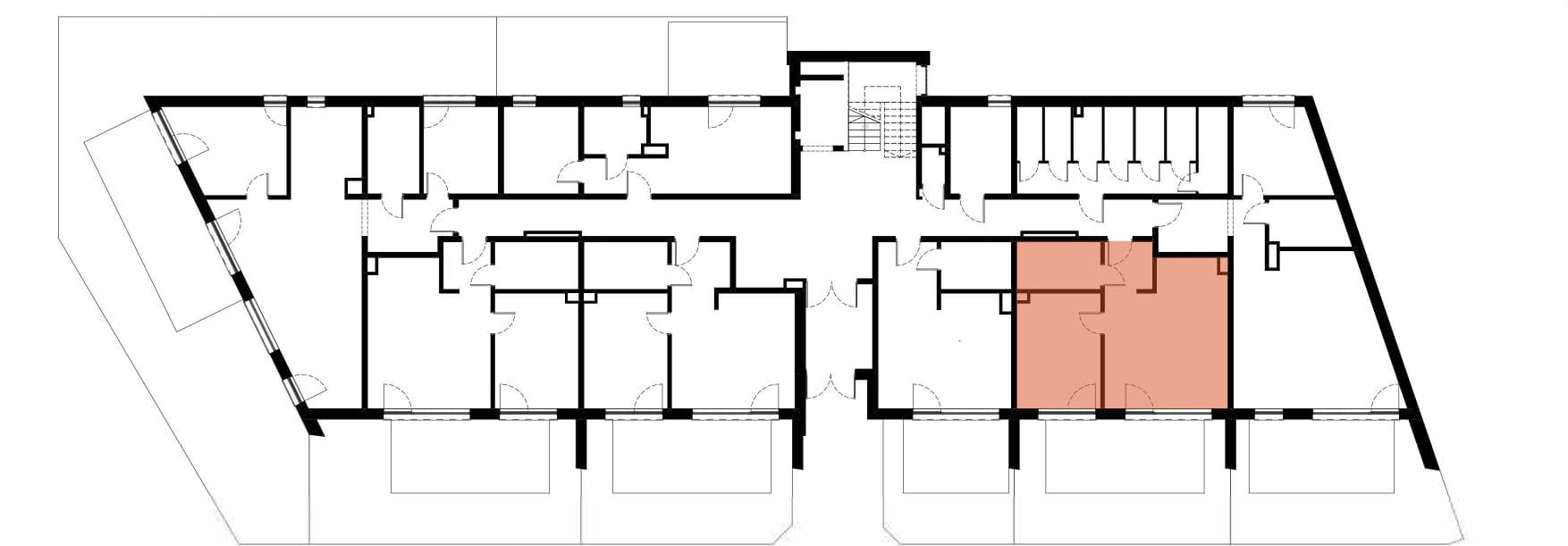 Apartamenty Kamienna / apartamenty inwestycyjne M02 rzut 2