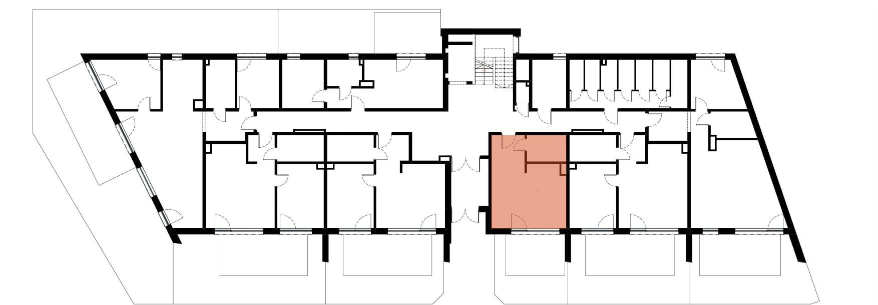 Apartamenty Kamienna / apartamenty inwestycyjne M03 rzut 2
