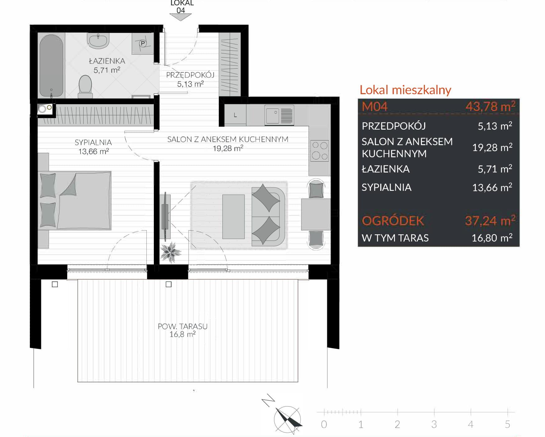 Apartamenty Kamienna / apartamenty inwestycyjne M04 rzut 1