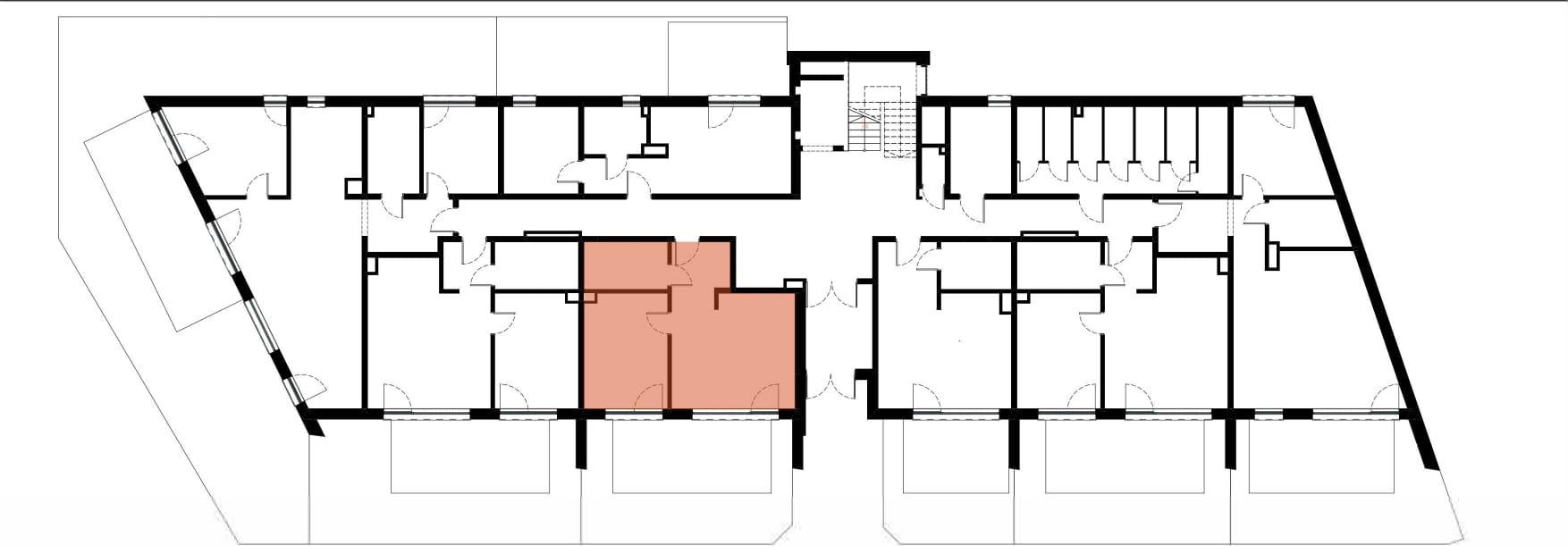 Apartamenty Kamienna / apartamenty inwestycyjne M04 rzut 2