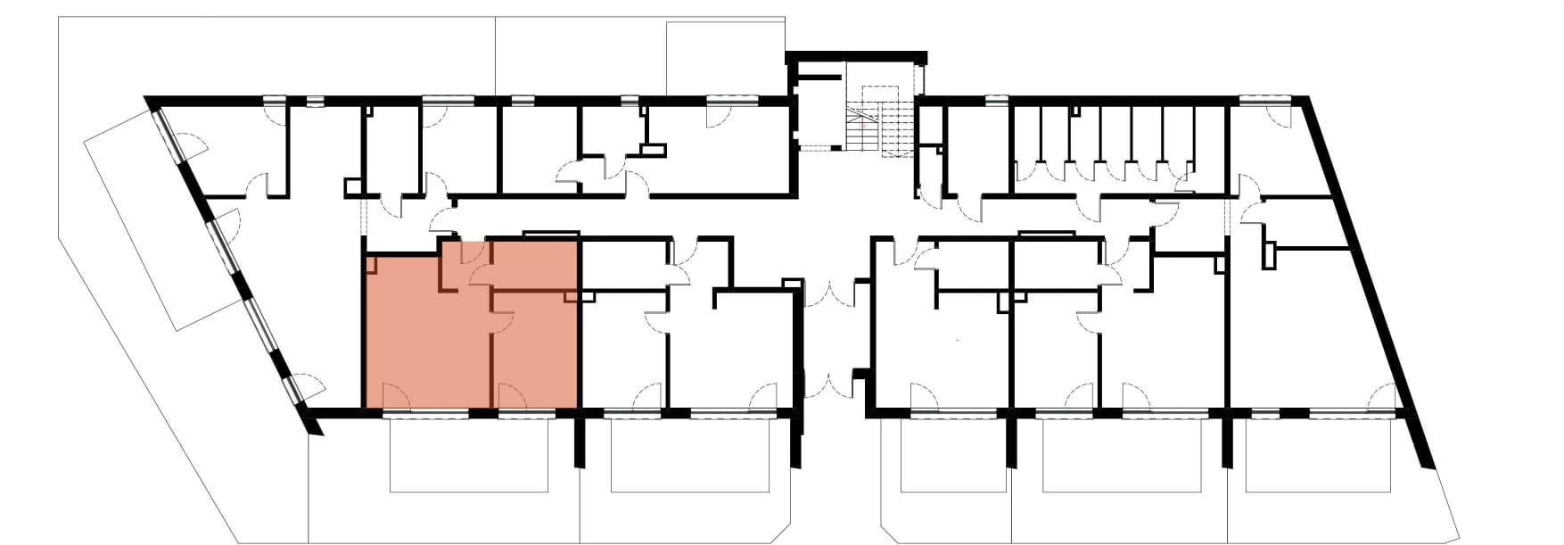Apartamenty Kamienna / apartamenty inwestycyjne M05 rzut 2