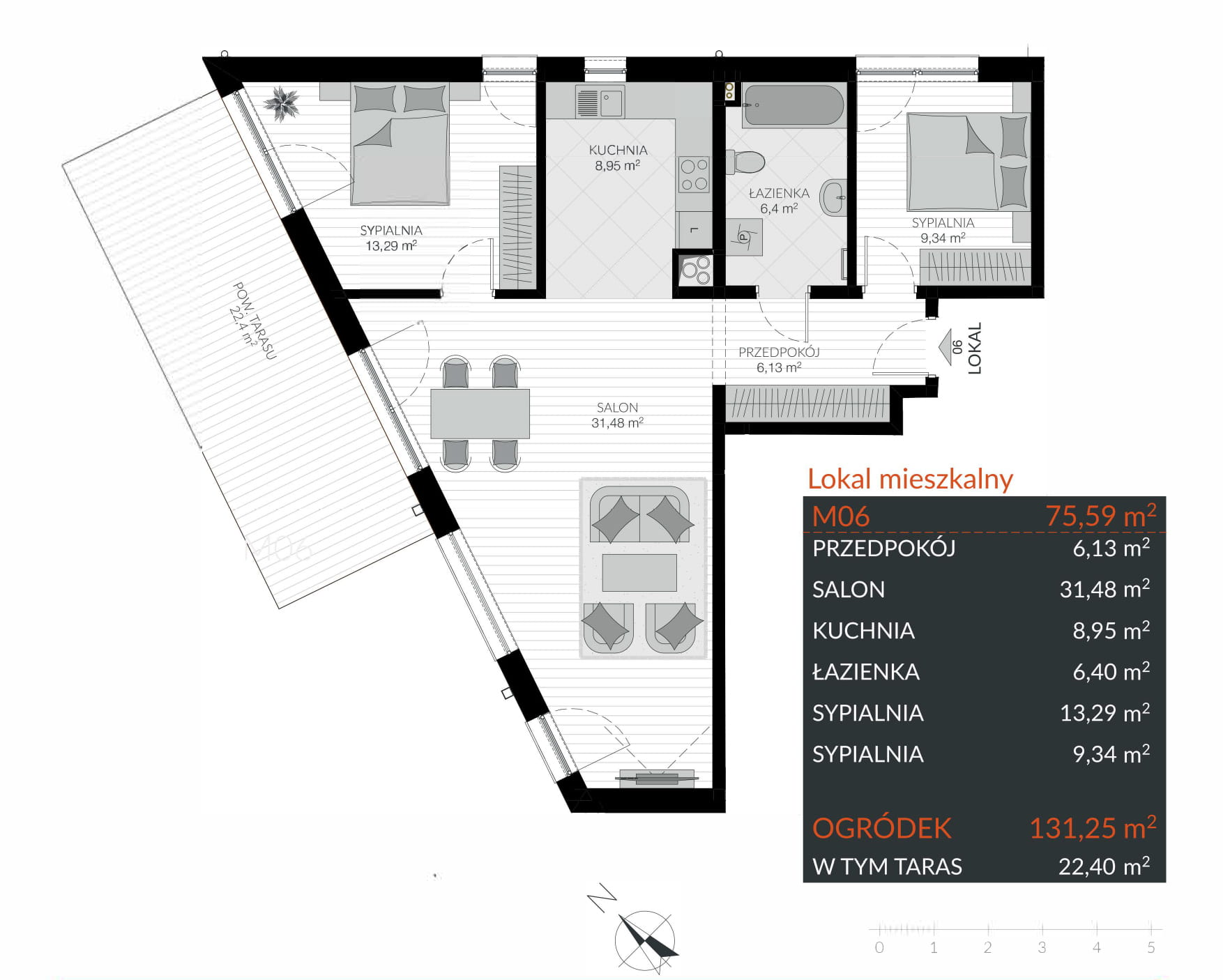 Apartamenty Kamienna / apartamenty inwestycyjne M06 rzut 1