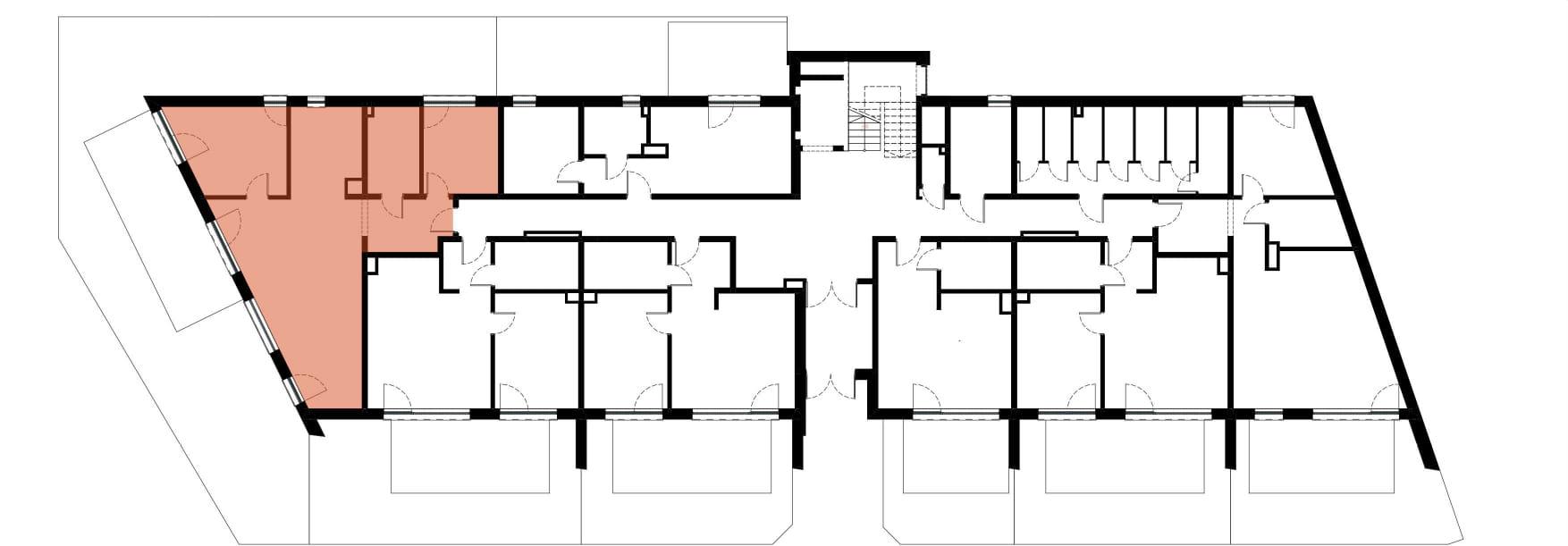 Apartamenty Kamienna / apartamenty inwestycyjne M06 rzut 2