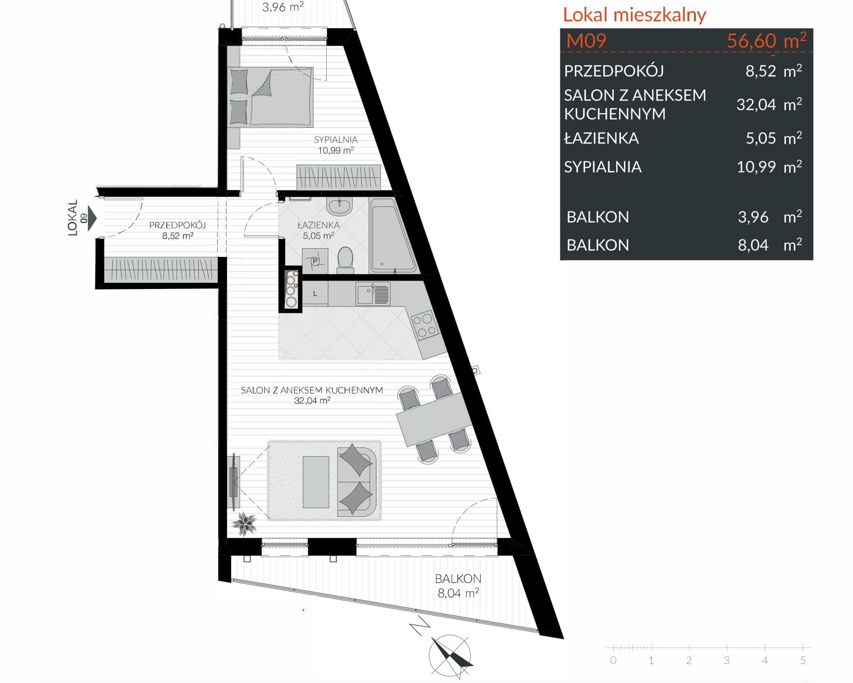 Apartamenty Kamienna / apartamenty inwestycyjne M09 rzut 1