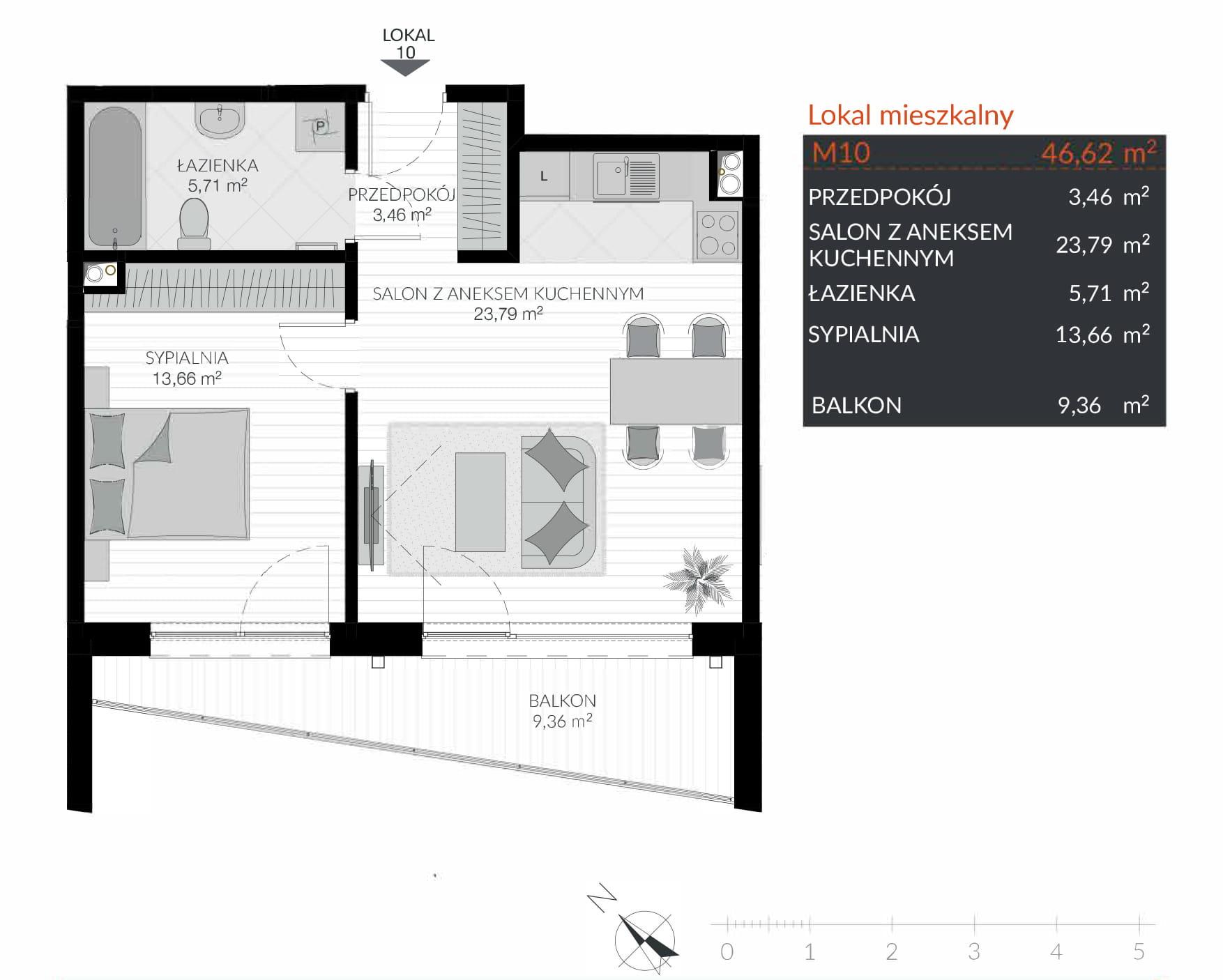 Apartamenty Kamienna / apartamenty inwestycyjne M10 rzut 1