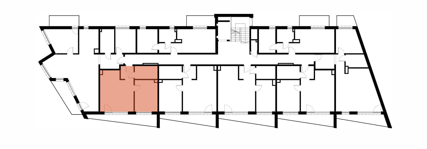 Apartamenty Kamienna / apartamenty inwestycyjne M13 rzut 2