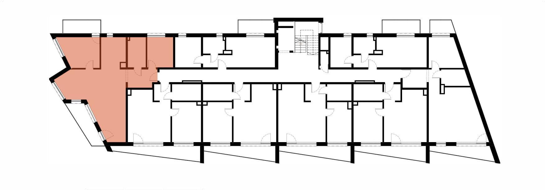 Apartamenty Kamienna / apartamenty inwestycyjne M14 rzut 2
