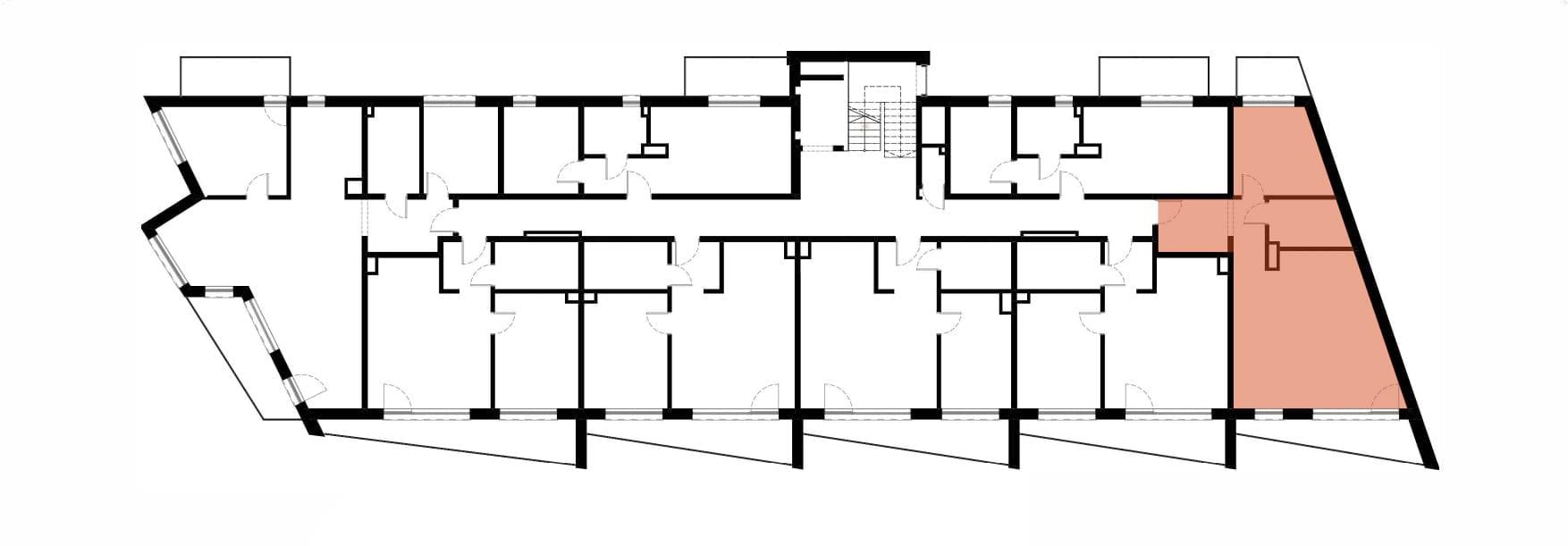 Apartamenty Kamienna / apartamenty inwestycyjne M17 rzut 2
