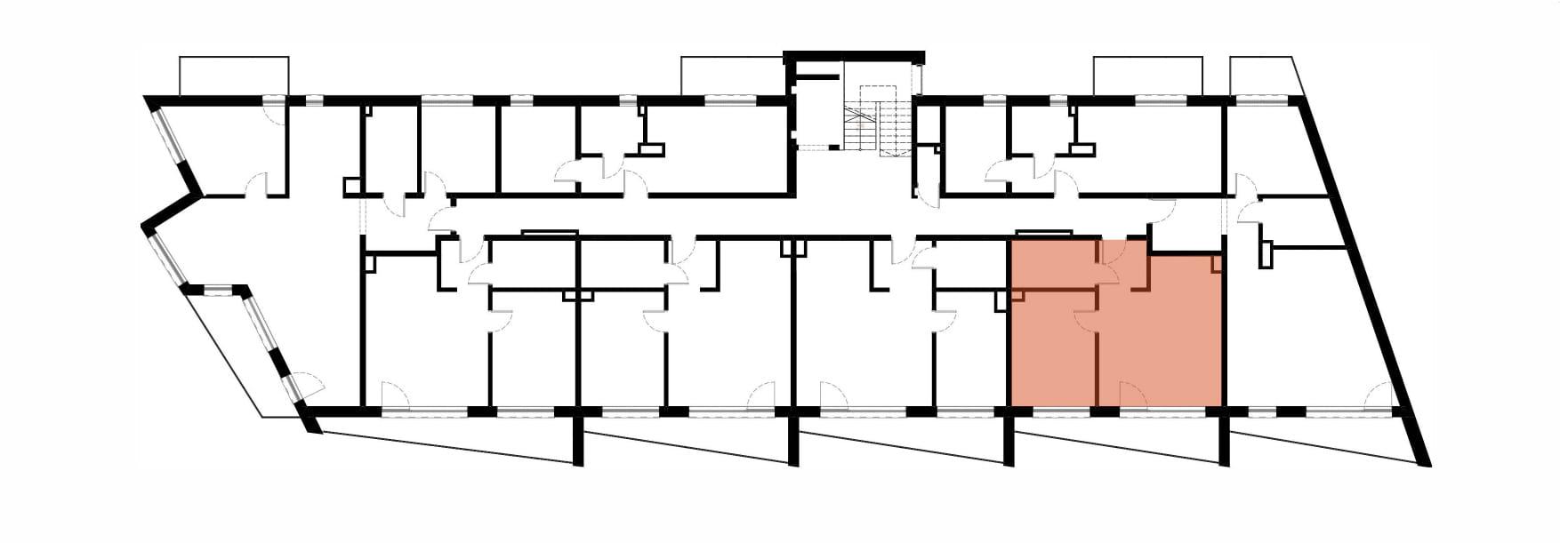 Apartamenty Kamienna / apartamenty inwestycyjne M18 rzut 2