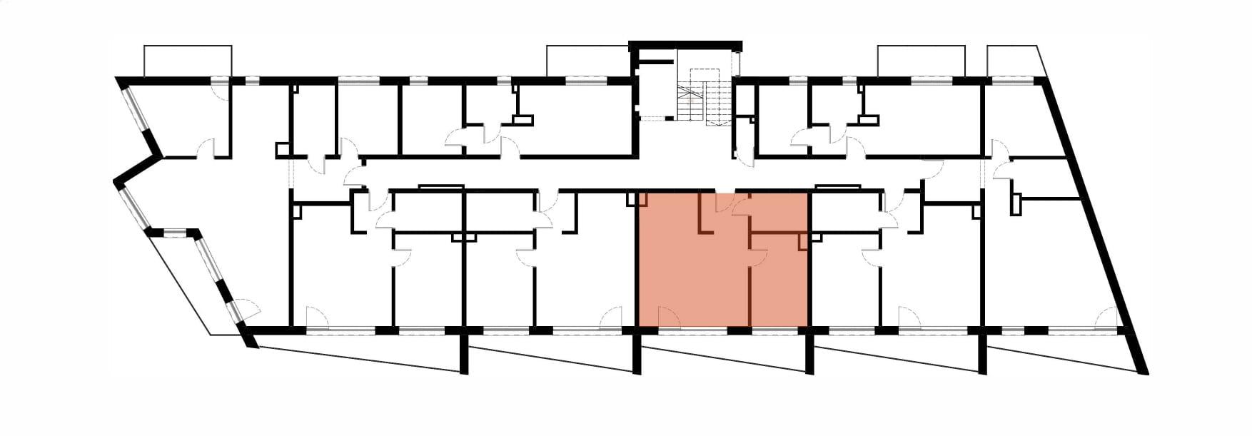 Apartamenty Kamienna / apartamenty inwestycyjne M19 rzut 2