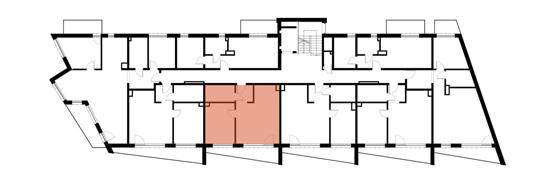 Apartamenty Kamienna / apartamenty inwestycyjne M20 rzut 2