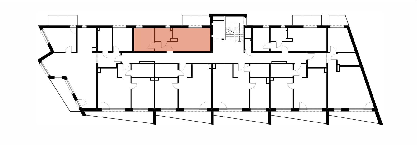 Apartamenty Kamienna / apartamenty inwestycyjne M23 rzut 2