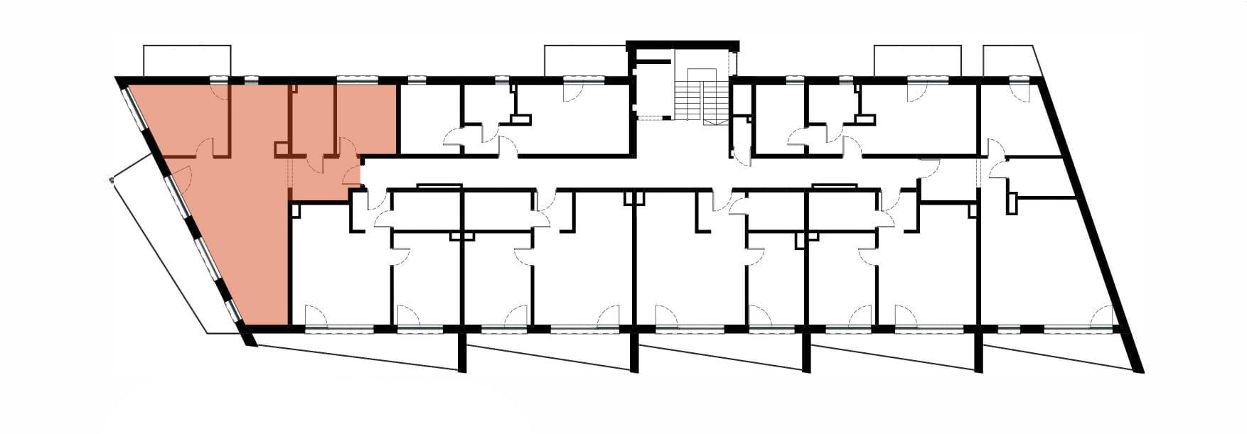 Apartamenty Kamienna / apartamenty inwestycyjne M30 rzut 2