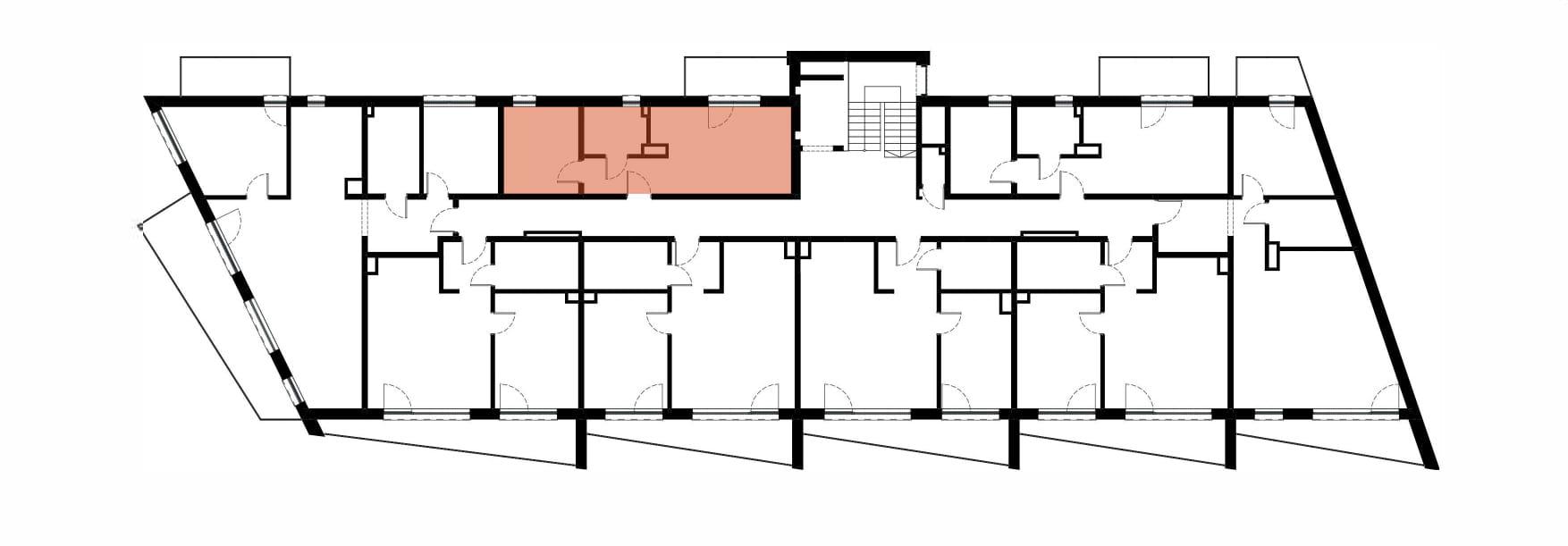 Apartamenty Kamienna / apartamenty inwestycyjne M31 rzut 2