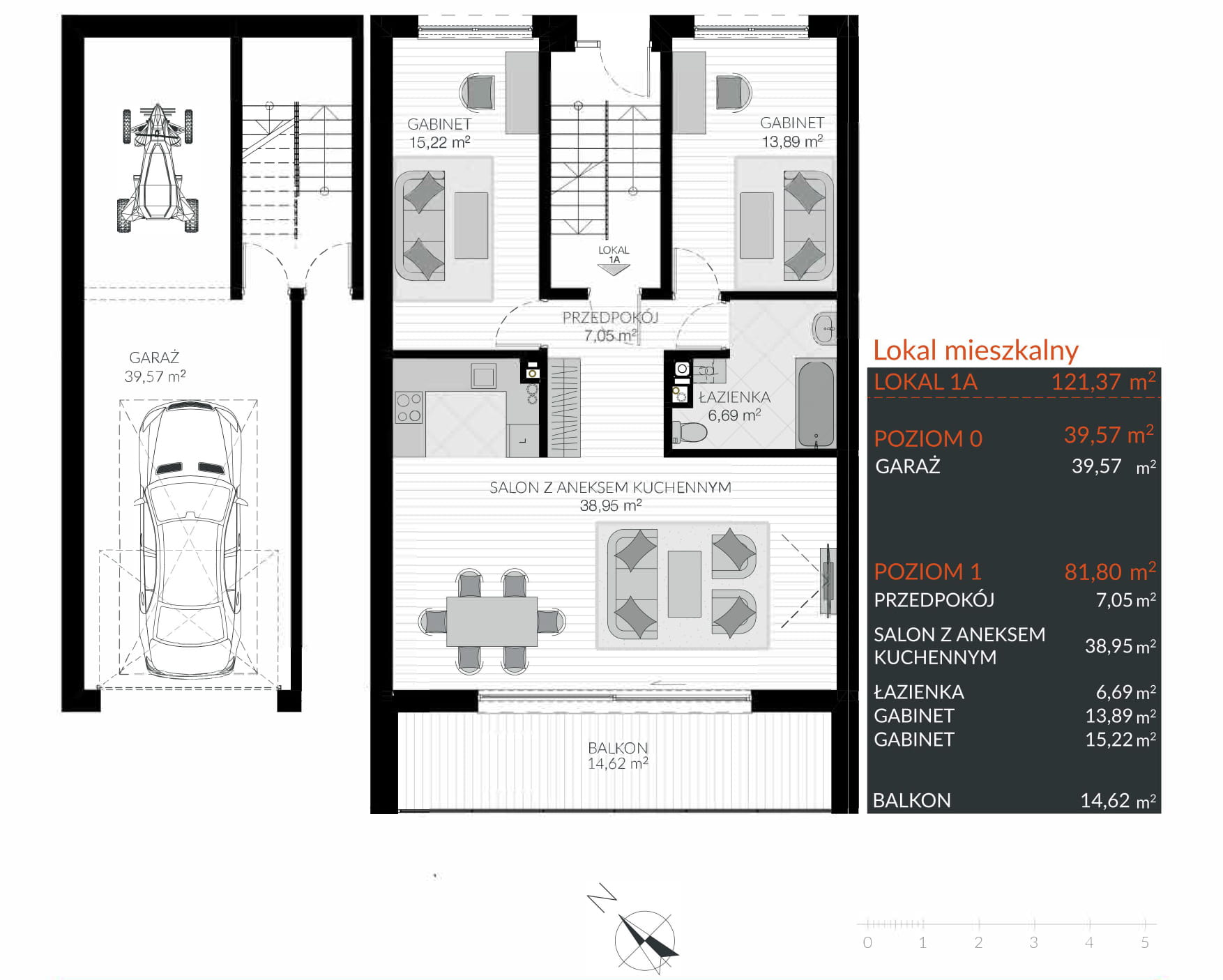 Apartamenty Kamienna / apartamenty inwestycyjne 1A rzut 1