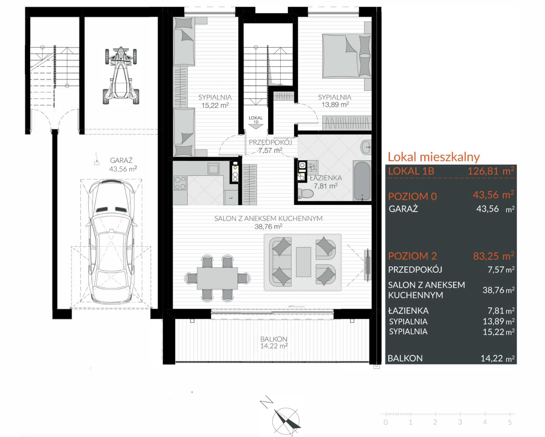 Apartamenty Kamienna / apartamenty inwestycyjne 1B rzut 1