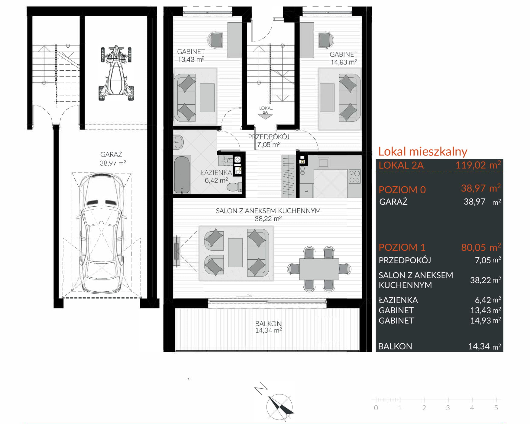 Apartamenty Kamienna / apartamenty inwestycyjne 2A rzut 1