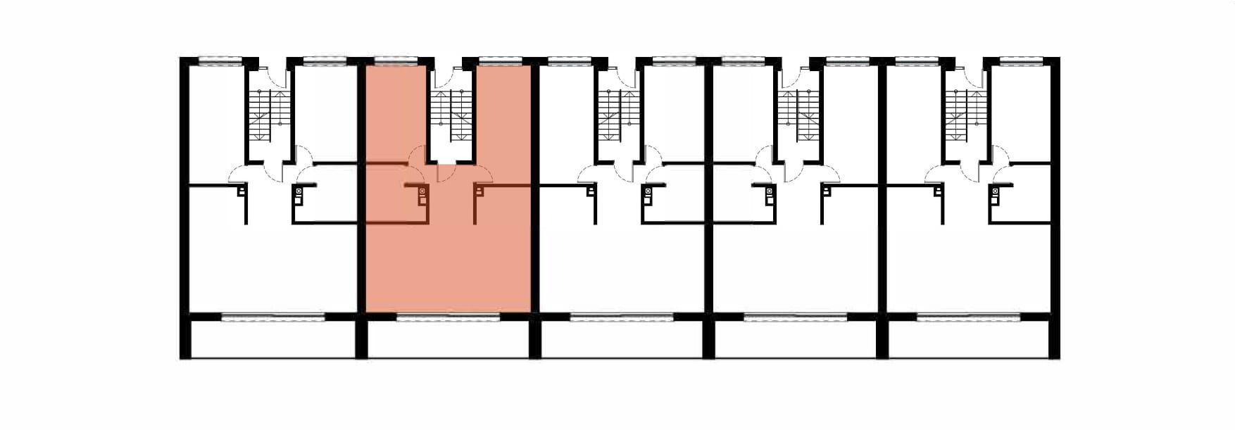Apartamenty Kamienna / apartamenty inwestycyjne 2A rzut 2