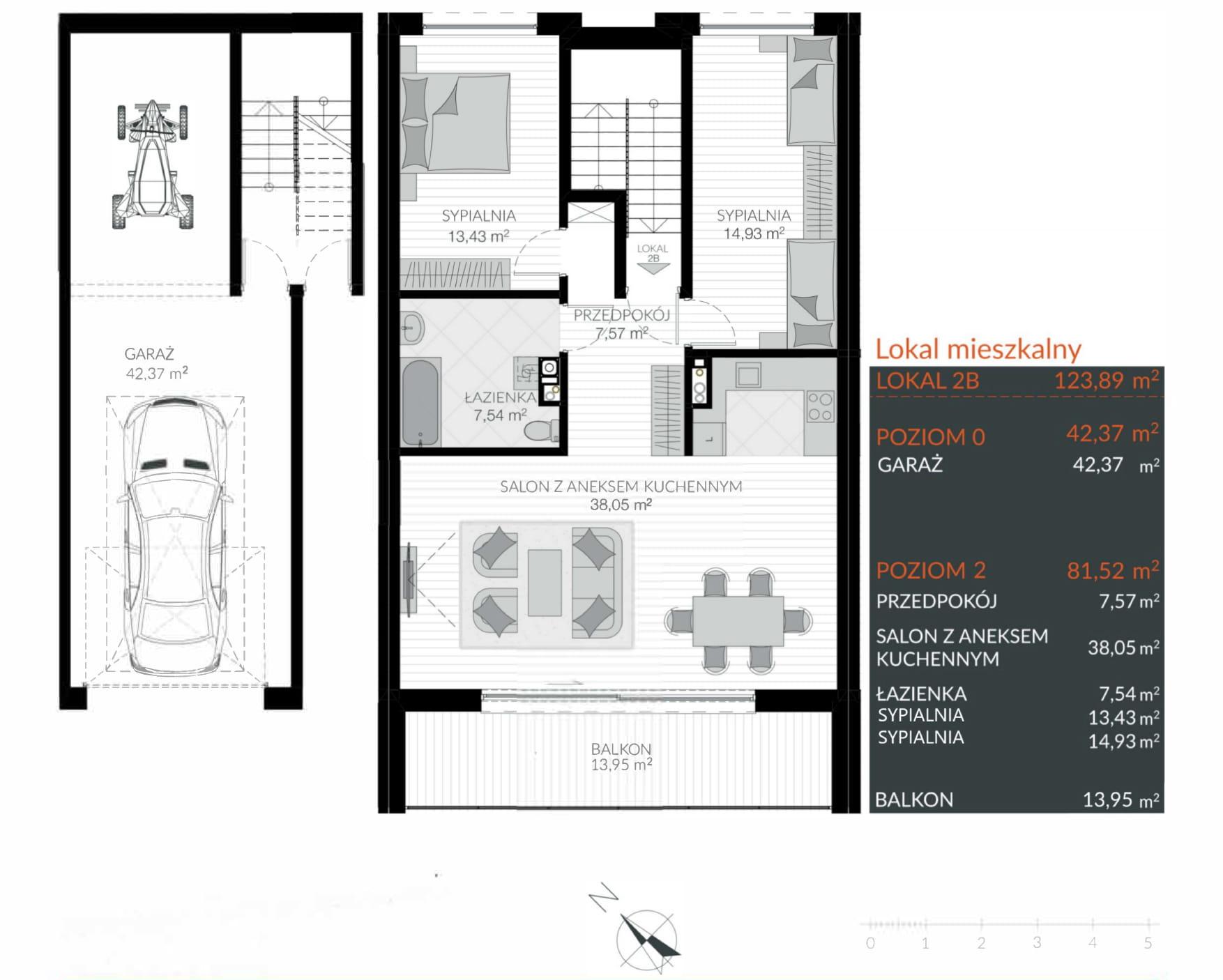 Apartamenty Kamienna / apartamenty inwestycyjne 2B rzut 1