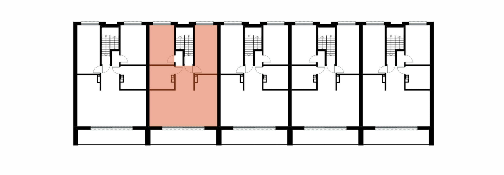Apartamenty Kamienna / apartamenty inwestycyjne 2B rzut 2