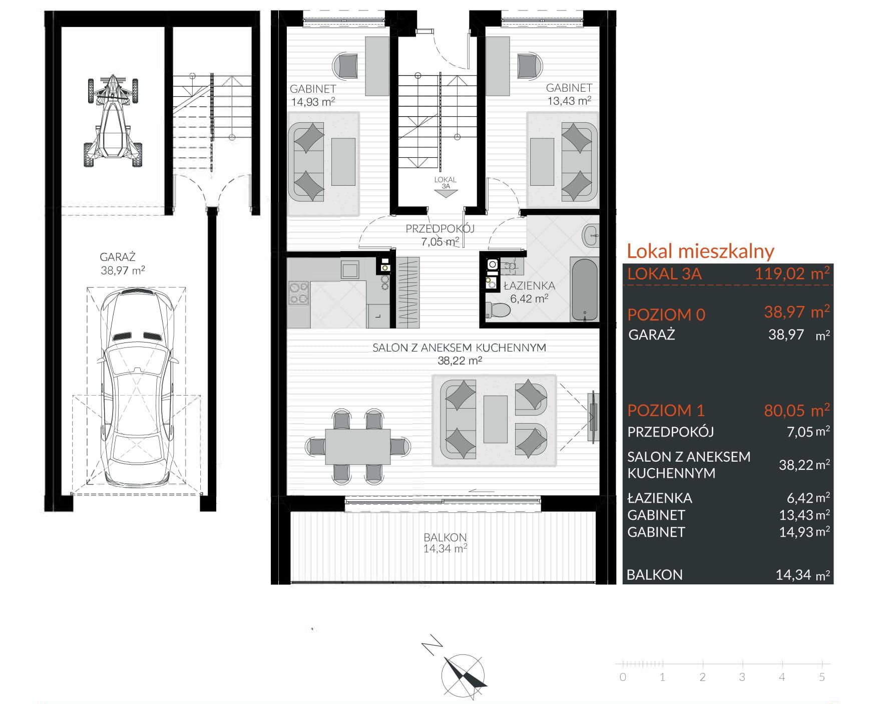 Apartamenty Kamienna / apartamenty inwestycyjne 3A rzut 1