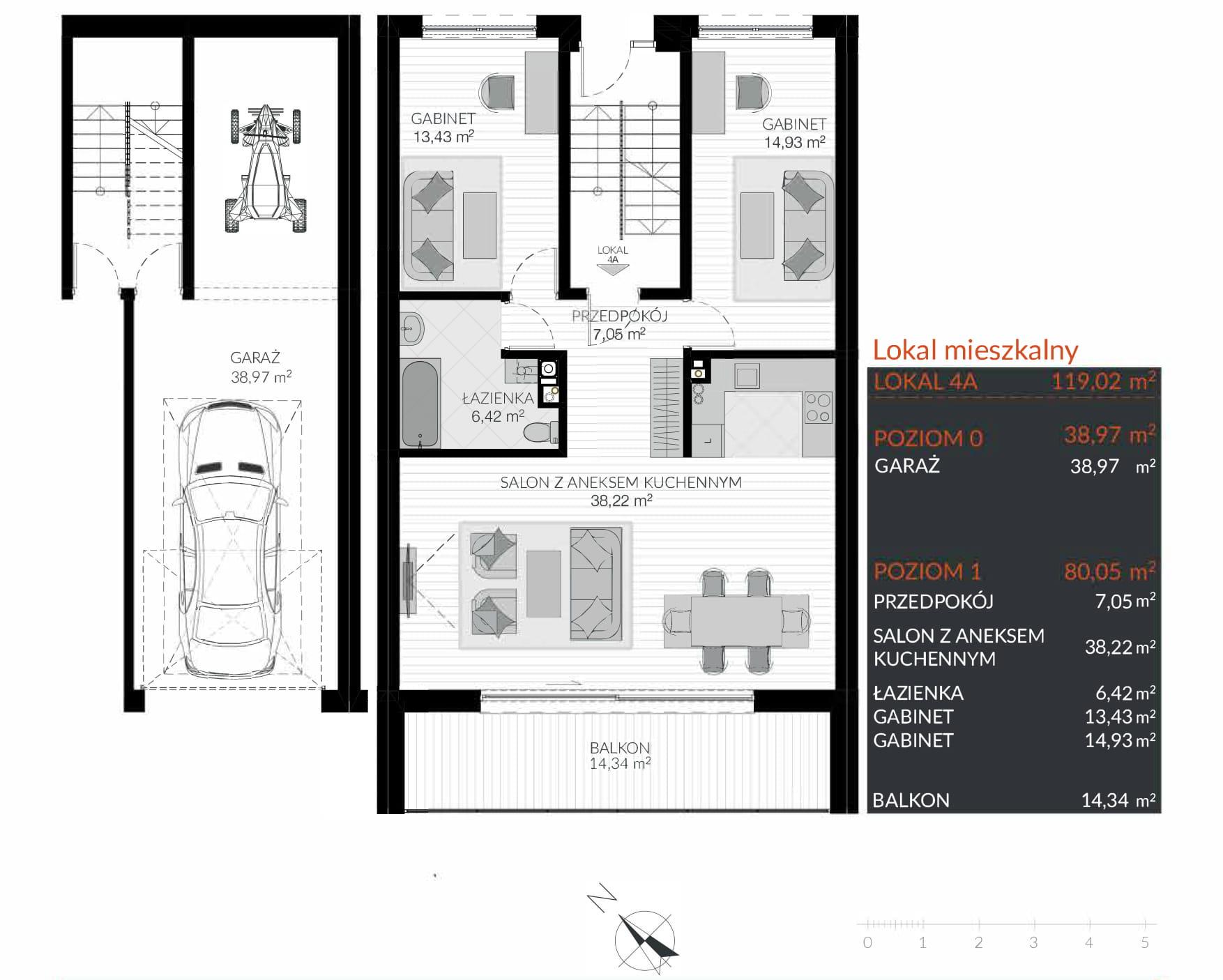 Apartamenty Kamienna / apartamenty inwestycyjne 4A rzut 1
