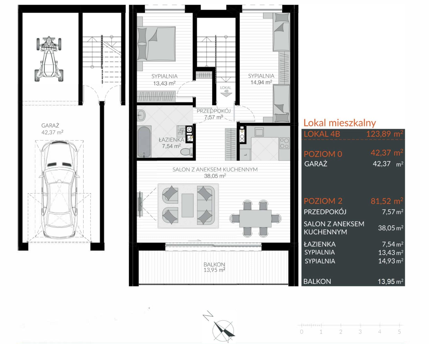 Apartamenty Kamienna / apartamenty inwestycyjne 4B rzut 1